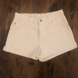 Levi's 912 Slim Fit Denim Shorts in White